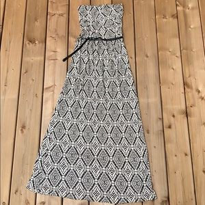 Forever 21 Printed Maxi w Braided Belt, size small